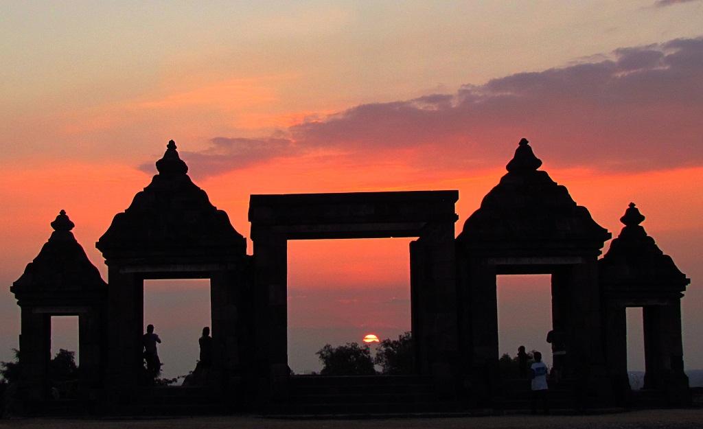 Sunset di Candi Ratu Boko